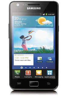 Samsung Galaxy S II<sup style='font-size:0.5em'>MC</sup> 4G